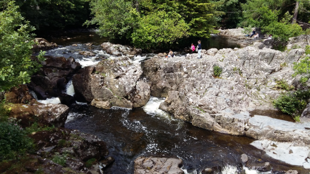 Rocks off Pont Y Pair bridge Betws y Coed