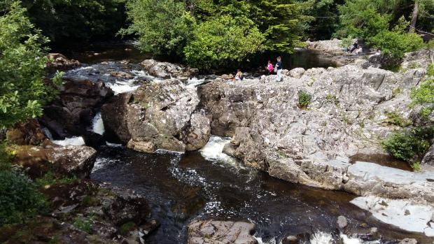 Rocks off Pont Y Pair bridge Betws y Coed