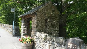 Stone bus shelter Betws y Coed