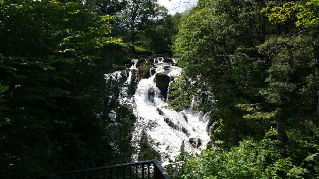 Swallow Falls in full flow