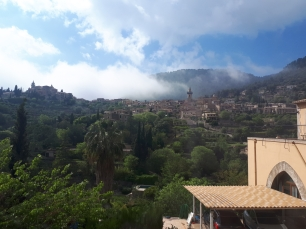 View of Valldemossa from the bus to Palma