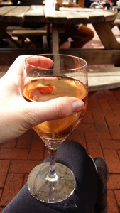Well earned glass of wine Betws y Coed