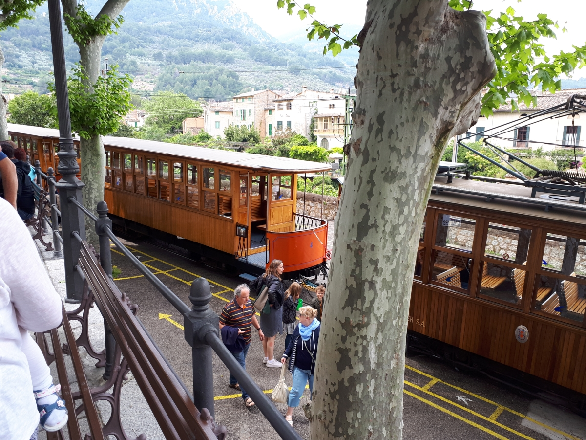 Wooden tram to Port de Soller