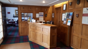 Annandale Arms reception desk