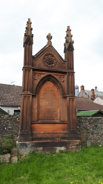 Memorial in Moffat cemetary