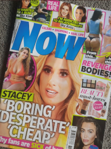 Now magazine Stacey Solomon
