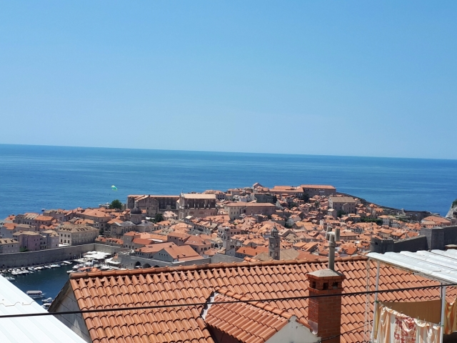 Dubrovnik city view from our apartments