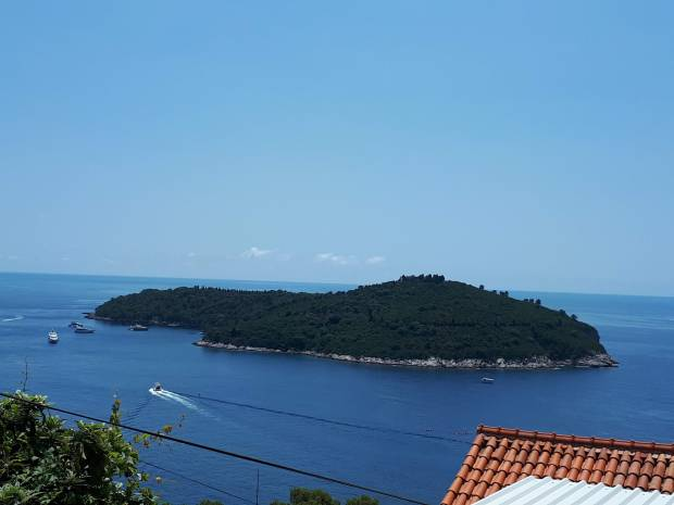 Lokrum Island view from our apartment